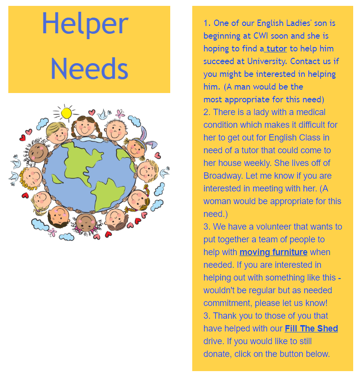 Helper Needs